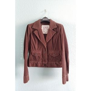 Sonoma | Boxy Ribbed Collar Corduroy Jacket